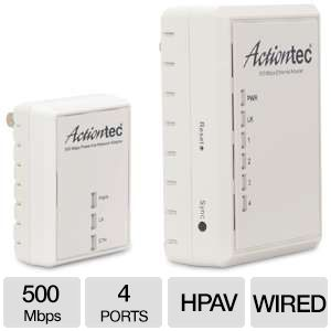 Actiontec 500 AV Powerline Ethernet Adapter Kit